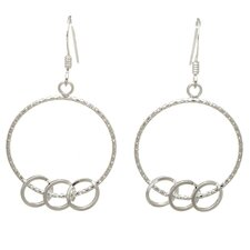 Multiple Circles Drop Earrings