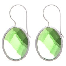 Checker Board Quartz Hoop Earrings