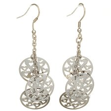 <strong>Lesa Michelle</strong> Heart in Circle Drop Earrings