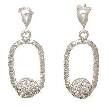 Diamond Cut Crystal Drop Earrings