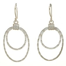 Graduating Open Oval Drop Earrings