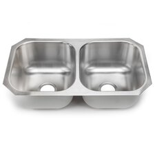 "<strong>Hahn</strong> 31.25"" x 17.75"" Double Bowl Kitchen Sink"