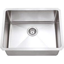 "Chef Series 23"" x 18"" Single Bowl Kitchen Sink"