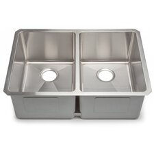 "<strong>Hahn</strong> Chef Series 29"" x 20"" Double Bowl Kitchen Sink"