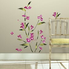 Fuschia Flower Wall Stickers