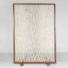 Naturals Woven Driftwood Framed Screen