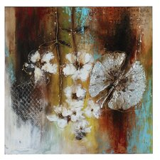 Butterfly Flowers Canvas Art