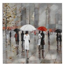 New York in the Rain Canvas Art