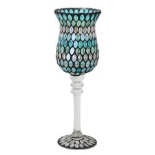 30cm Teardrop Mosaic Goblet in Blue