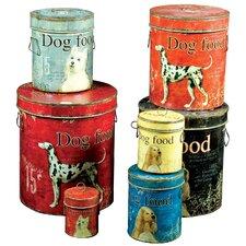 7-tlg. Hundefutter-Dosenset