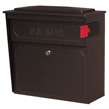 Townhouse Wall Mount Locking Mailbox