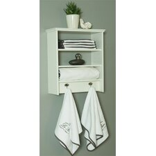 2 Shelf with Garment Hooks and No Door