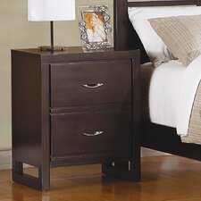 <strong>Woodbridge Home Designs</strong> Paula II 2 Drawer Nightstand