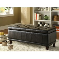 Afton Bi-Cast Vinyl Bedroom Storage Ottoman