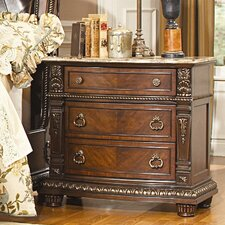 Palace 3 Drawer Nightstand