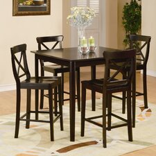 Blossom Hill 5 Piece Counter Height Dining Set