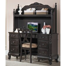 <strong>Woodbridge Home Designs</strong> Cinderella Writing Desk and Hutch