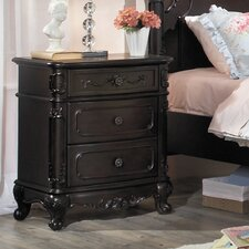Cinderella 3 Drawer Nightstand