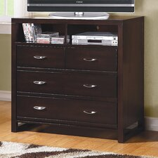 Paula II 4 Drawer Media Chest