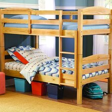 B28 Series Twin over Twin Bunk Bed with Built-In Ladder