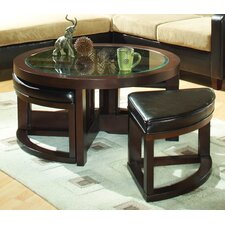3219 Series Coffee Table with 4 Ottomans