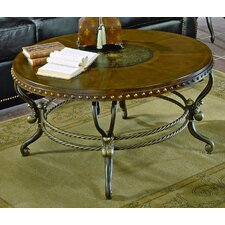 <strong>Woodbridge Home Designs</strong> 5553 Series Coffee Table with Curved Base