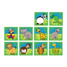Town and Country Zoo Animals Kids Rug (Set of 30)