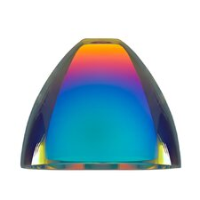 "4.5"" Rainbow Glass Bell Track Head Shade"