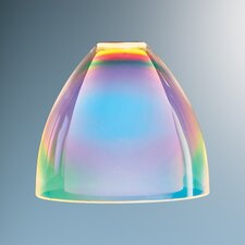 "3.4"" Rainbow Glass Bell Track Head Shade"