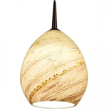 Vibe LED Pendant with Sea Shell Glass