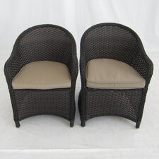 Antigua Dining Arm Chair with Cushions (Set of 2)