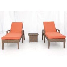 <strong>Creative Living</strong> Salinas 3 Piece Chaise Lounge Set with Cushions