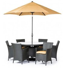 Fiji 7 Piece Dining Set with Cushions