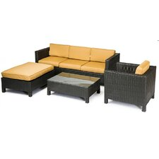 Fiji 4 Piece Sofa Seating Group with Cushions