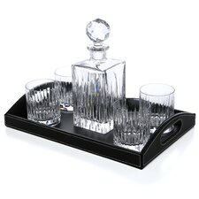 <strong>Reed & Barton</strong> Crystal Soho Bar Set With Tray