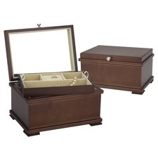 <strong>Reed & Barton</strong> Baily Jewelry Chest in Light Walnut
