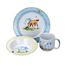 Farm Yard Friends 3 Piece Ceramic Feeding Set