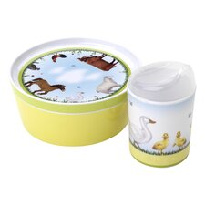 <strong>Reed & Barton</strong> Farmyard Friends 3-Piece Mealtime Set