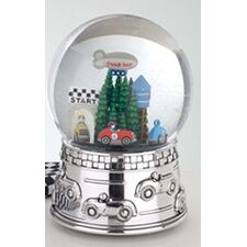 "<strong>Reed & Barton</strong> Children's Giftware 6.5"" Race Car Waterglobe"
