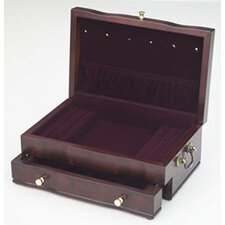 <strong>Reed & Barton</strong> Princess II Mahogany Jewelry Chest with Dior Red Lining
