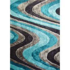 <strong>Rug Factory Plus</strong> Living Shag Blue/Gray Rug