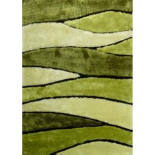 <strong>Rug Factory Plus</strong> Living Shag Shades of Green Rug