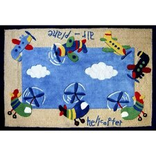 Zoomania Planes and Helicopters Kids Rug