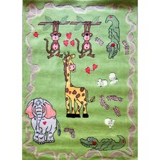 Zoomania Happy Life Green Kids Rug