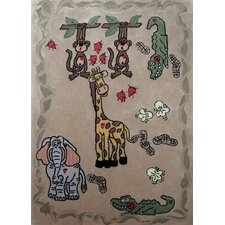 Zoomania Happy Life Beige Kids Rug