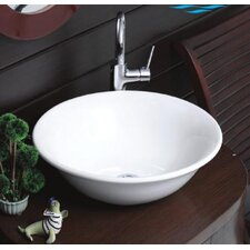 Lal C Round Ceramic Vessel Bathroom Sink