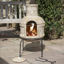 Star Flower Chimenea with Cooking Grill