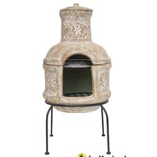 Star Flower Chiminea with Cooking Grill