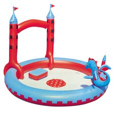 Round Interactive Castle Inflatable Play Pool