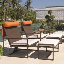 <strong>Dann Foley</strong> Malibu Lounge Chair and Ottoman with Cushions